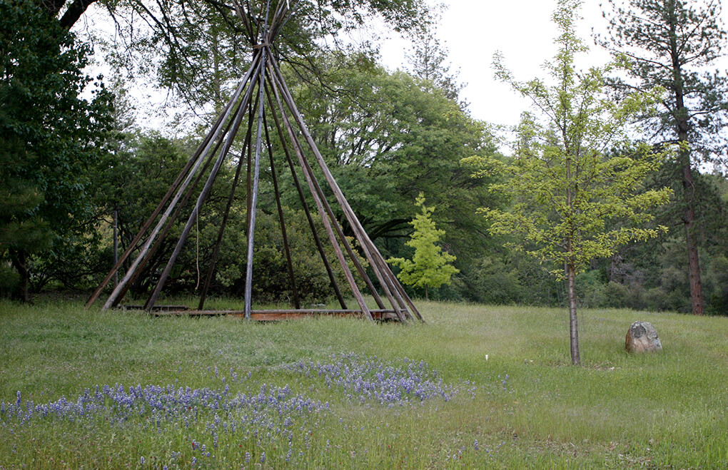 Photo of the exterior of a Tepee by a Nevada City Architect